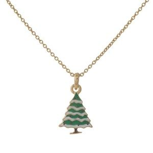 Jewelry - Dainty Christmas Tree Holiday Necklace